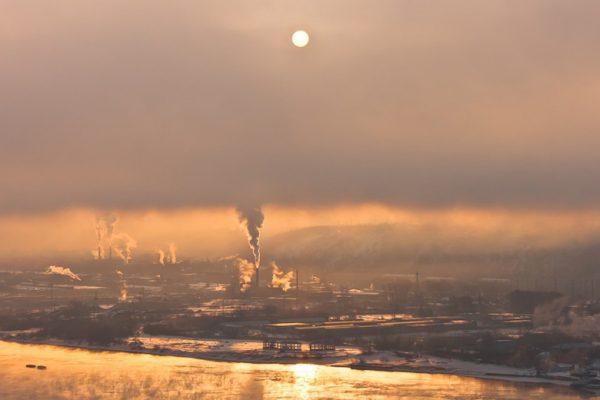 чёрное небо Красноярска